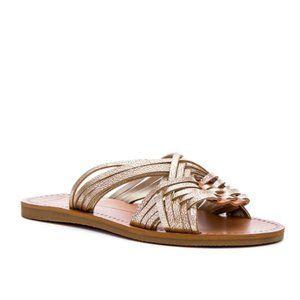 Dolce Vita Jacey Gold Slip On Sandal